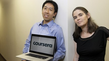 Coursera founders Andrew Ng and Daphne Koller are computer science professors atStanford University