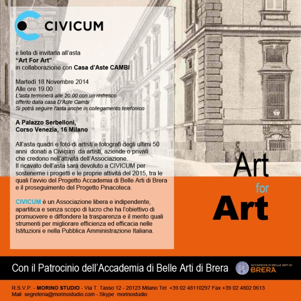 Invito Art for Art Brera