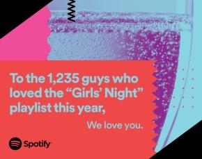 """""""Ai 1.235 ragazzi che quest'anno hanno amato la playlist """"Girls Night"""", vi amiamo"""""""